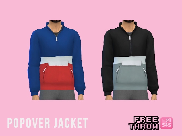 Sims 4 Popover jacket at CC freethrow