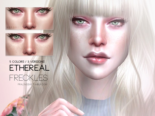 Sims 4 Ethereal Freckles N06 by Pralinesims at TSR