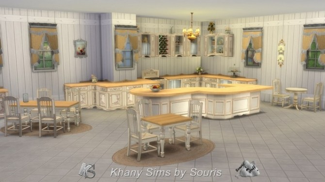 Sims 4 Seasons kitchen by Souris at Khany Sims