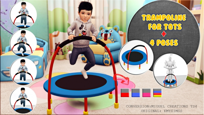 Trampoline For Tots Pose Pack At Victor Miguel 187 Sims 4