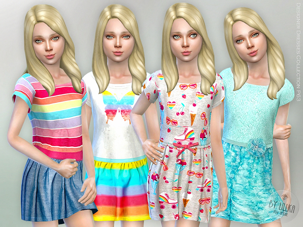 Designer Dresses Collection P63 by lillka at TSR image 1416 Sims 4 Updates