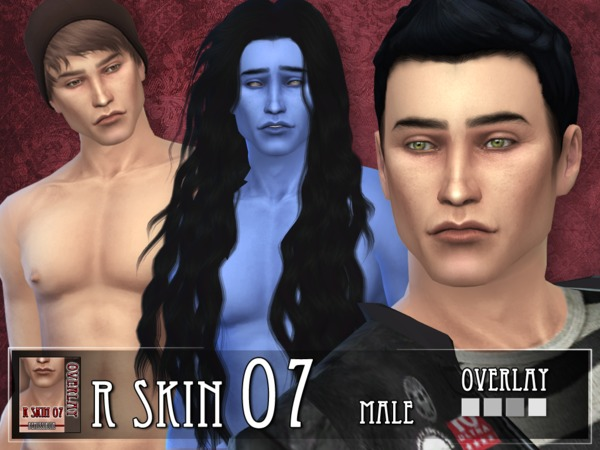 Sims 4 R skin 07 male overlay by RemusSirion at TSR