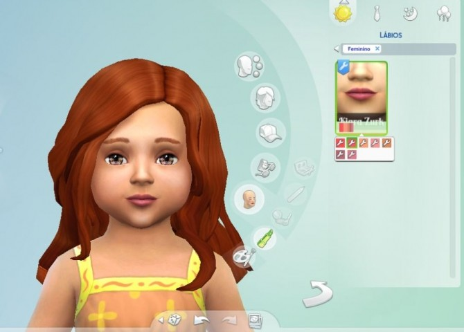 Sims 4 Natural Lipstick for Toddlers at My Stuff