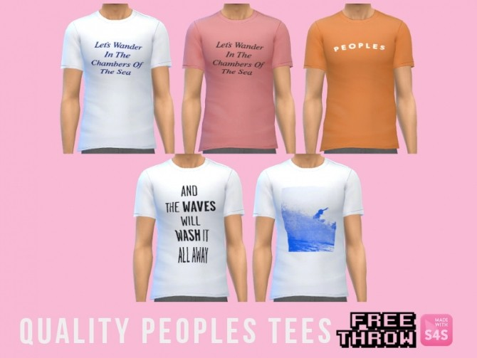Sims 4 Quality Peoples tees at CC freethrow