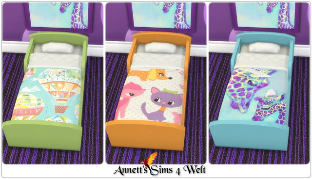 Sims 4 Toddlers Bed Recolors at Annett's Sims 4 Welt