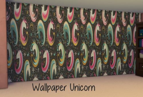 Unicorn wallpaper at ChiLLis Sims image 1455 Sims 4 Updates