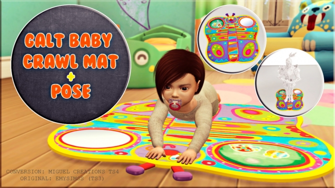 Calt Baby Crawl Mat Pose At Victor Miguel 187 Sims 4 Updates