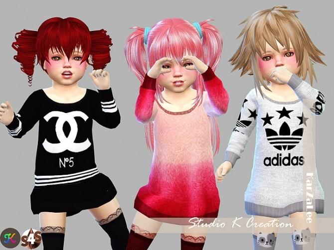 Giruto12 long sweater toddler version at Studio K Creation image 1484 670x502 Sims 4 Updates