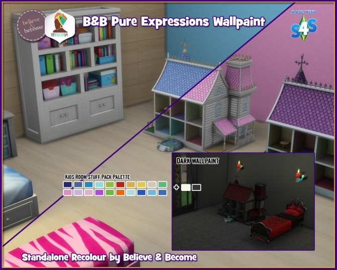 Sims 4 B & B Pure Expressions Wall at The African Sim