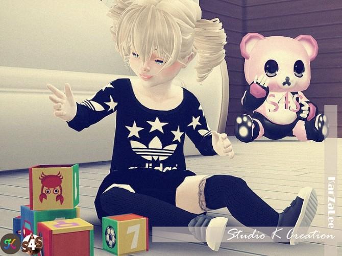 Giruto12 long sweater toddler version at Studio K Creation image 1504 670x502 Sims 4 Updates