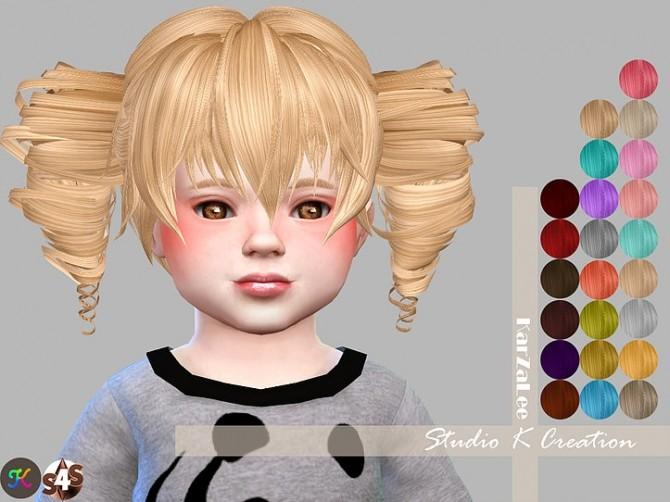 Animate hair 41 Akane toddler version at Studio K Creation image 15111 670x502 Sims 4 Updates
