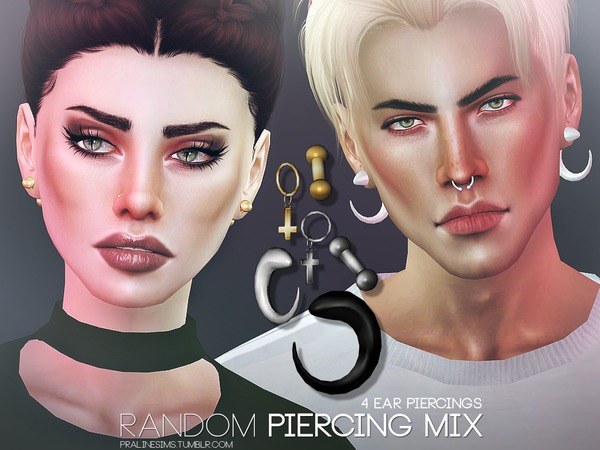 Random Piercing Mix by Pralinesims at TSR image 1512 Sims 4 Updates