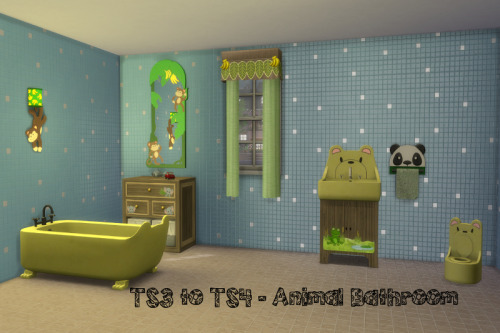 Sims 4 S3 to S4 Animal Bed & Bathroom at ChiLLis Sims