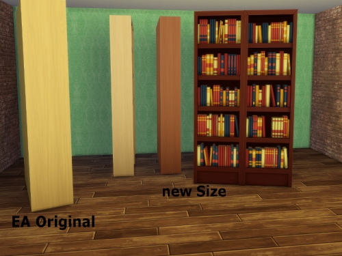 Resized Bookshelf at ChiLLis Sims image 1531 Sims 4 Updates