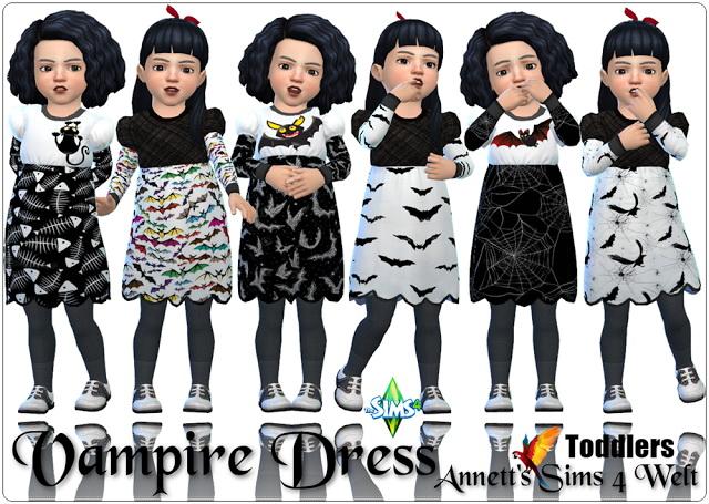 Sims 4 Toddlers Vampire Dress at Annett's Sims 4 Welt