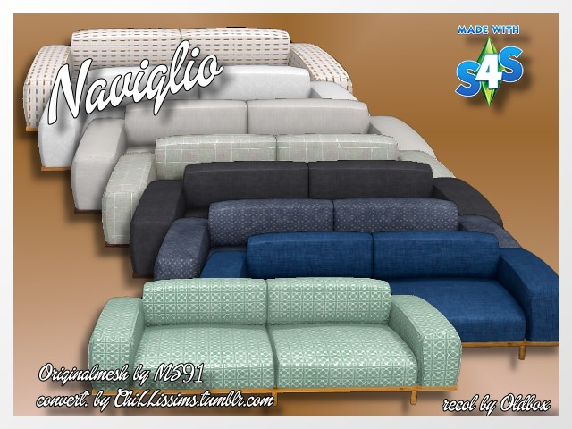 Naviglio Sofa by Oldbox at All 4 Sims image 1563 Sims 4 Updates