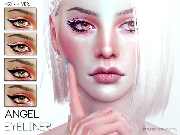 Sims 4 Angel Eyeliner N56 by Pralinesims at TSR