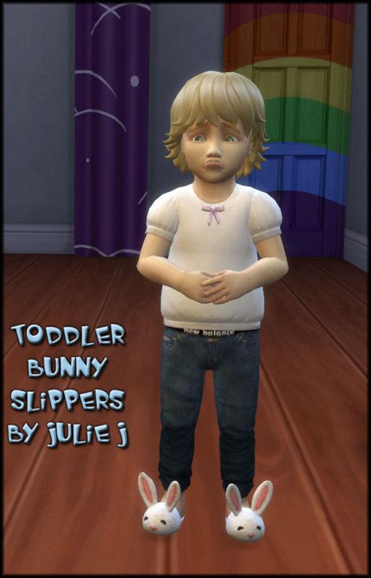 Sims 4 Toddler Bunny Slippers at Julietoon – Julie J