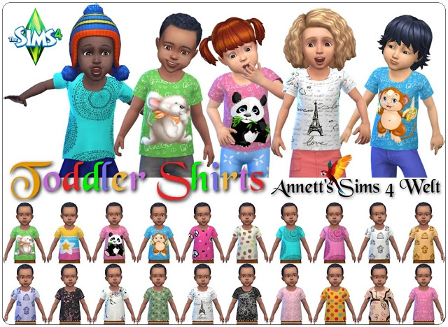 Sims 4 Toddlers Shirts at Annett's Sims 4 Welt