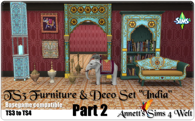TS3 to TS4 Deco & Furniture Set India Part 2 at Annett's Sims 4 Welt image 162 Sims 4 Updates