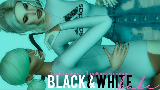 BLACK & WHITE BABE BODYSUIT at Candy Sims 4 image 1666 670x377 Sims 4 Updates