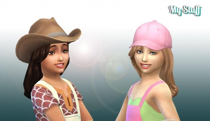 Sims 4 Caroline Hair for Girls at My Stuff