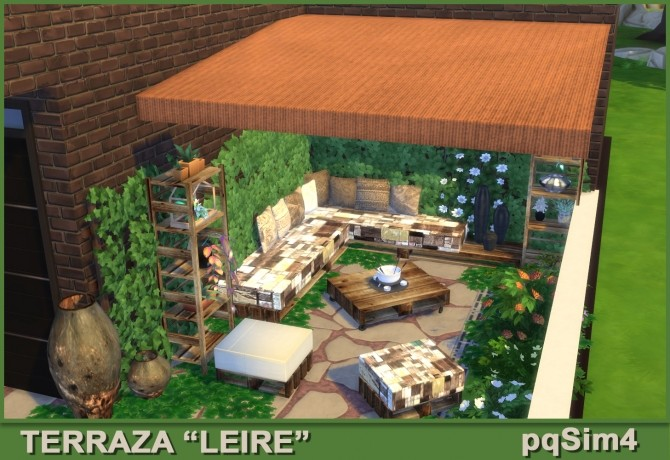 Sims 4 Leire patio by Mary Jiménez at pqSims4