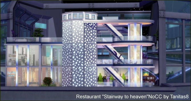 Stairway to heaven restaurant at Tanitas8 Sims image 1681 670x356 Sims 4 Updates