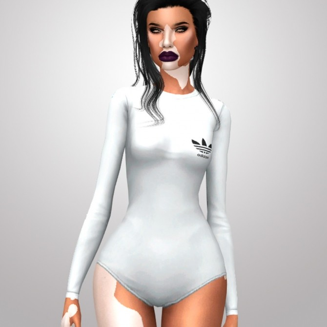 BLACK & WHITE BABE BODYSUIT at Candy Sims 4 image 1687 670x670 Sims 4 Updates