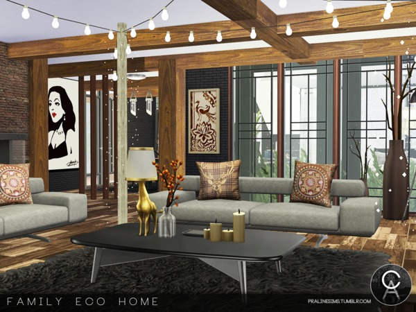Sims 4 Family Eco Home by Pralinesims at TSR