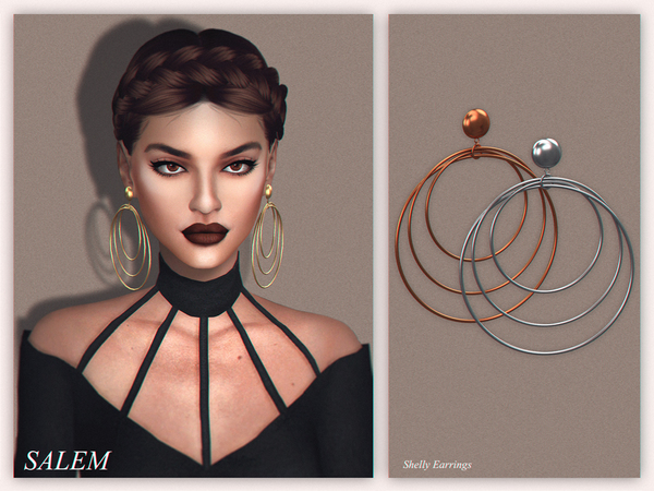Shelly Earrings by Salem C. at TSR image 1716 Sims 4 Updates