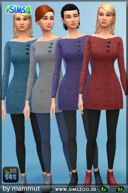 Knit outfit by mammut at Blacky's Sims Zoo image 17212 Sims 4 Updates