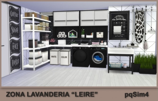 Leire Laundry Area By Mary Jim 233 Nez At Pqsims4 187 Sims 4 Updates