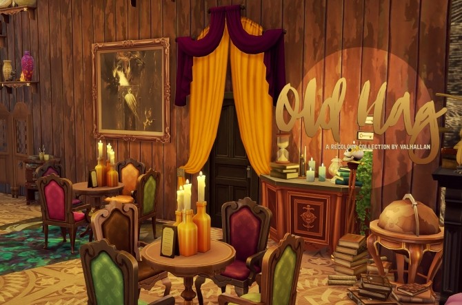 Old Hag recolour Collection couches and curtains at Valhallan image 1757 670x443 Sims 4 Updates