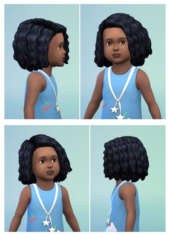 Sims 4 Toddlers ShortCurls edit & Mega Curls edit at Birksches Sims Blog