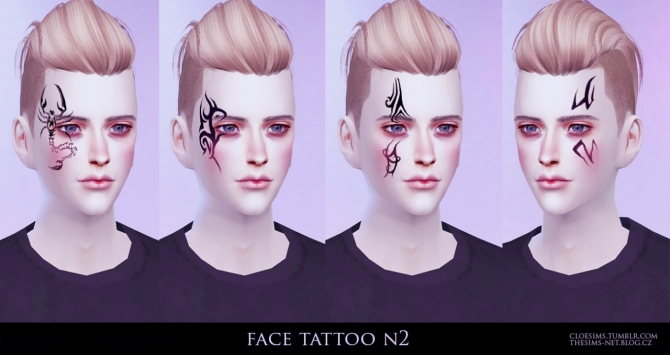 Face Tattoo N2 At Cloe Sims 187 Sims 4 Updates