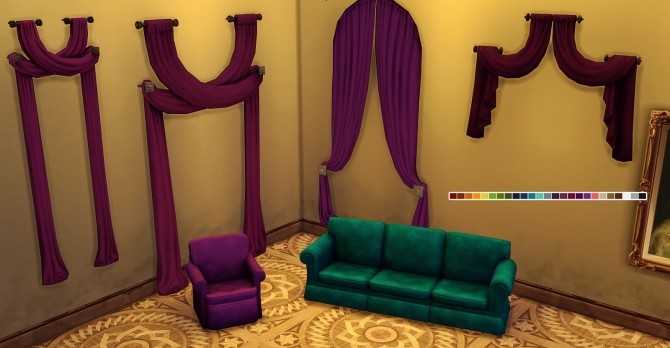 Old Hag recolour Collection couches and curtains at Valhallan image 1796 670x348 Sims 4 Updates