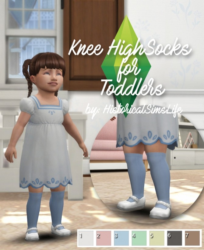 Knee High Socks for Toddlers at Historical Sims Life image 1801 670x821 Sims 4 Updates