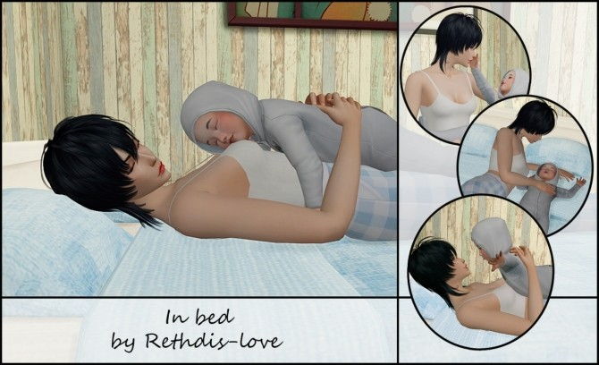 In Bed With Toddler Poses At Rethdis Love Sims 4 Updates