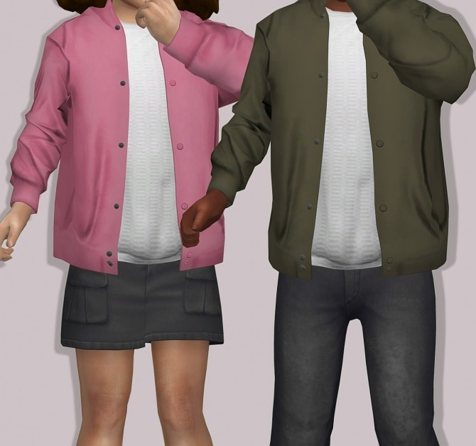 Sims 4 Semller Silk Bomber Jacket for Toddlers at Lumy Sims