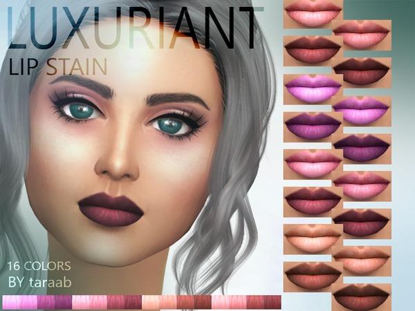 Sims 4 Luxuriant Lip Stain by taraab at TSR