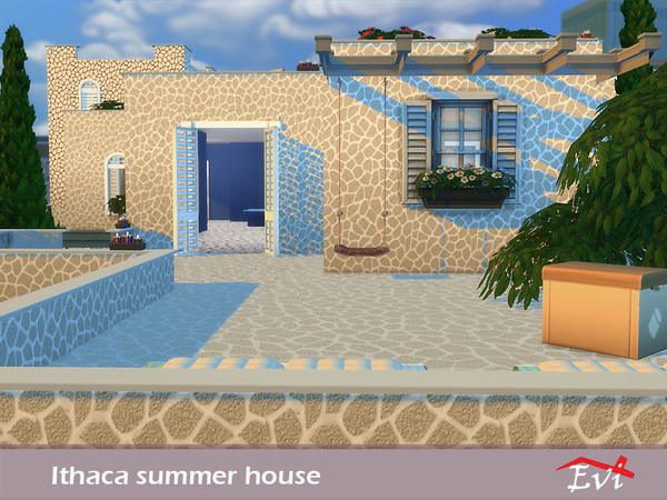Sims 4 Ithaca summer house by evi at TSR