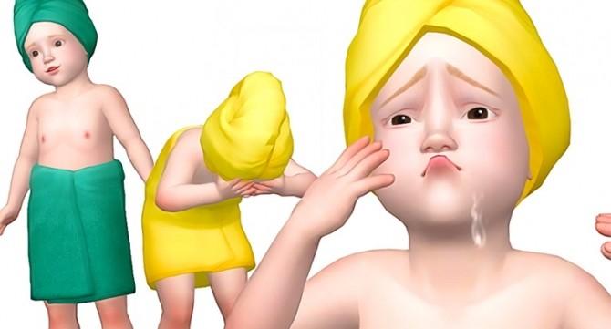Sims 4 EA Toddler Towel Wrap at Rinvalee