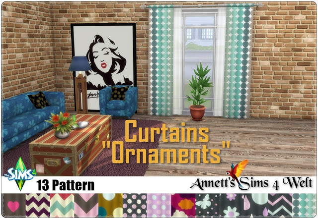 Ornaments Curtains at Annett's Sims 4 Welt image 1885 Sims 4 Updates