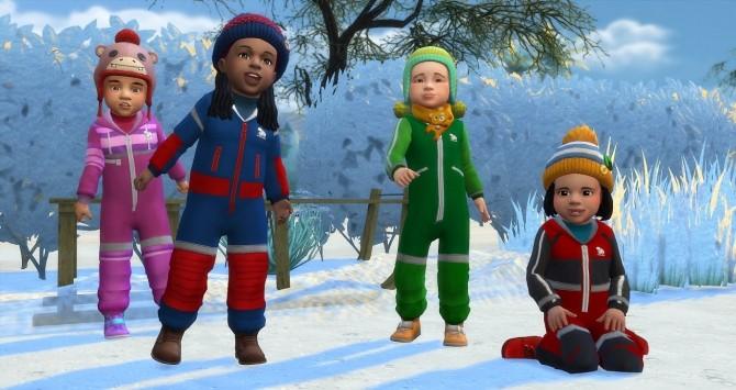 Sims 4 Polar Bear toddler snow suits at Budgie2budgie