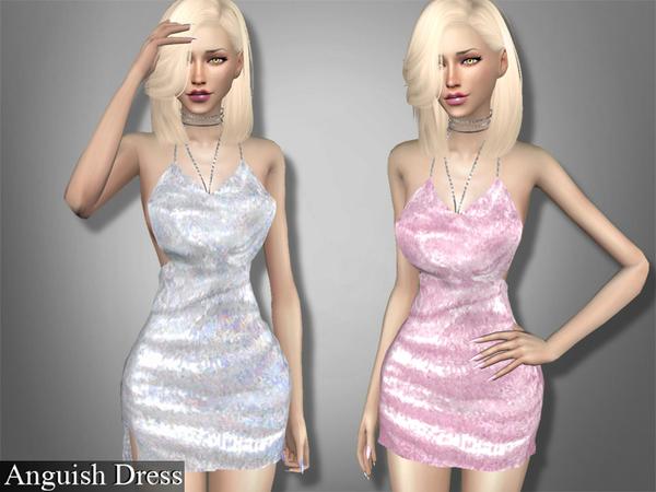 Sims 4 Anguish Dress by Genius666 at TSR