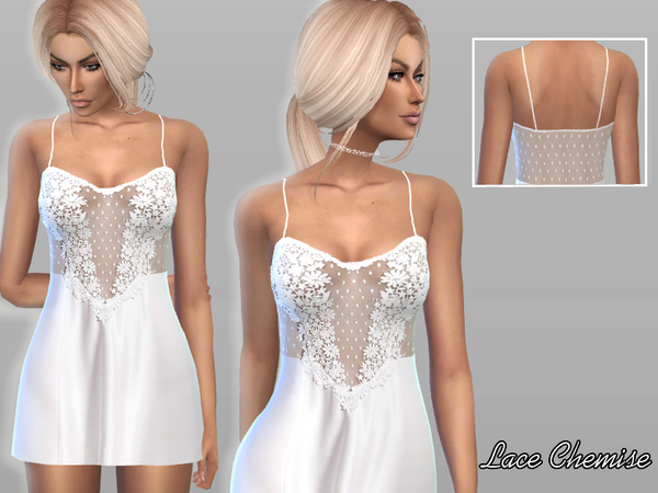 Sims 4 Lace Chemise by Puresim at TSR