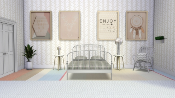 Wall Art By Maison Du Monde At Meinkatz Creations Sims 4
