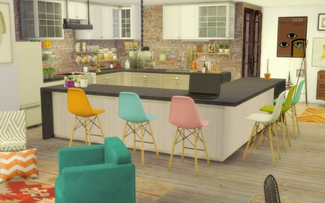 Bohème Chic house by Bloup at Sims Artists image 1978 670x419 Sims 4 Updates