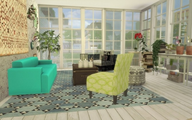 Bohème Chic house by Bloup at Sims Artists image 1988 670x419 Sims 4 Updates